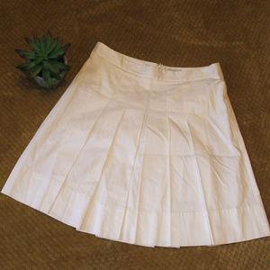 LOFT White Pleated Skirt
